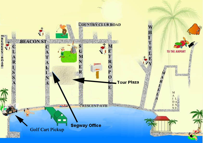 Maps for Catalina Island Golf Cart Tour and Locations of lots